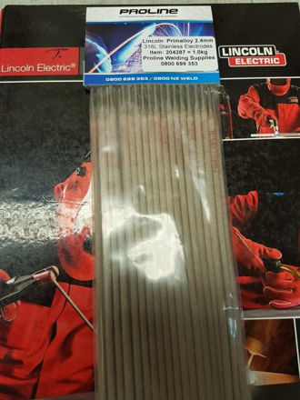 Picture of 3.2mm 316L Stainless Arc Welding Electrodes 0.5KG Pack - Approx. 14 Rods