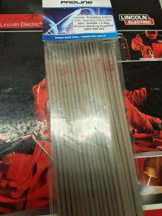 Picture of 2.5mm 316L Stainless Arc Welding Electrodes   0.5KG Pack - Approx. 26 Rods