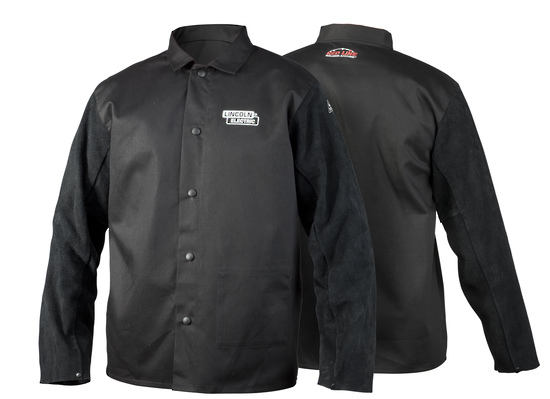 Picture of Lincoln Traditional split leather-sleeved welding jacket
