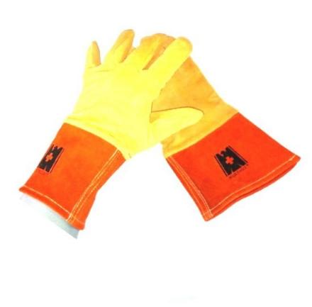 Picture of Deer Skin Leather TIG Welding Gloves Orange/Yellow