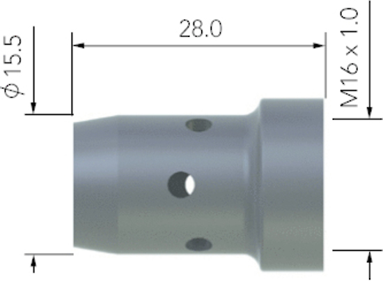 Picture of UB5005C Diffuser White - MB401/501 Torch
