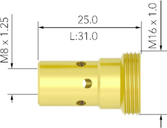 Picture of UB5001 Tip Adaptor - MB501 Torch
