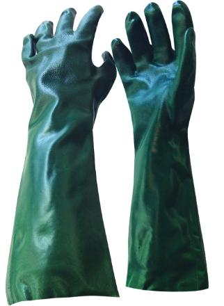 Green PVC Chemical Gloves 45cm /Pair
